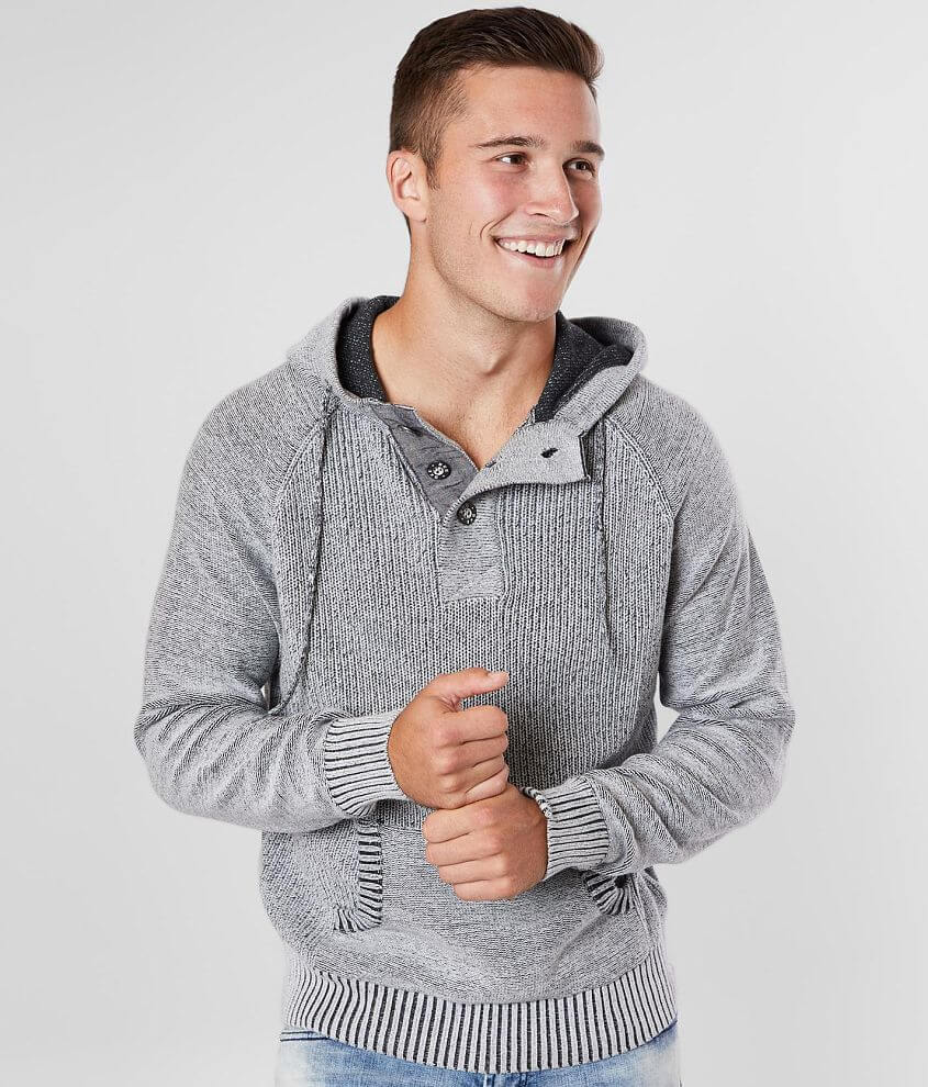 J.B. Holt Reyes Hooded Henley Sweater front view