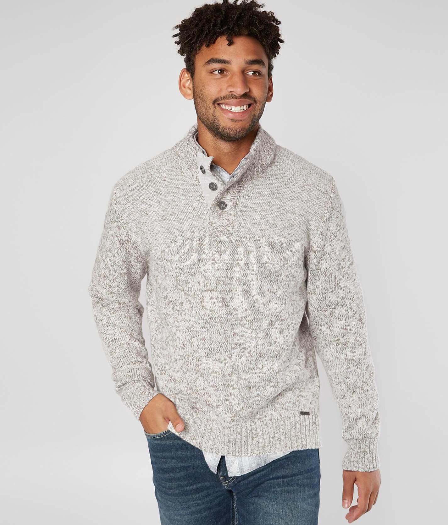 Jb Holt Mischief Henley Sweater Mens Sweaters In Cream Buckle