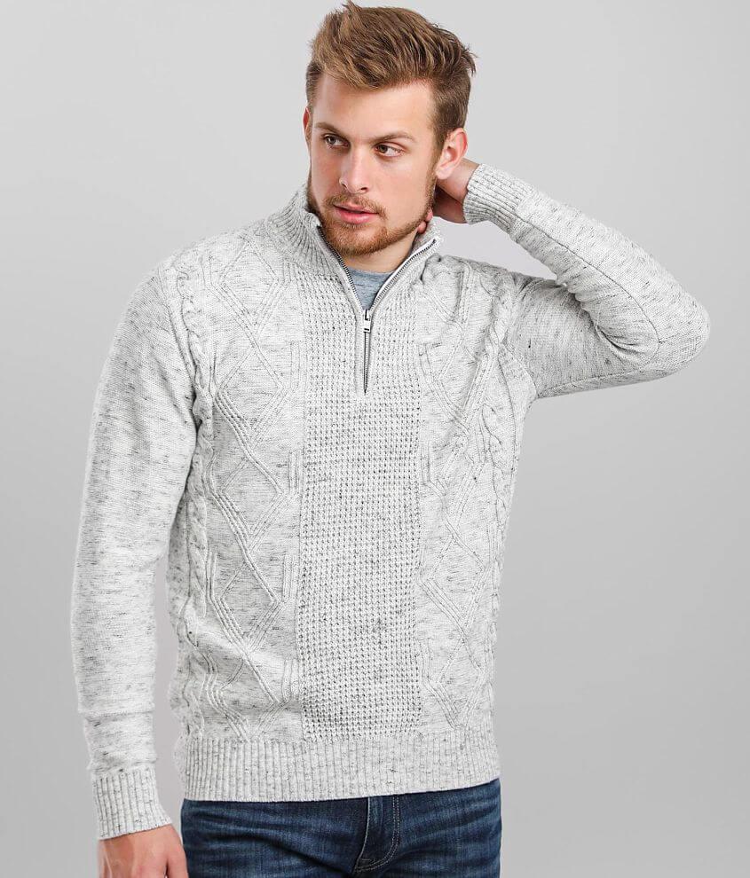 J.B. Holt Thomas Quarter Zip Mock Neck Sweater front view