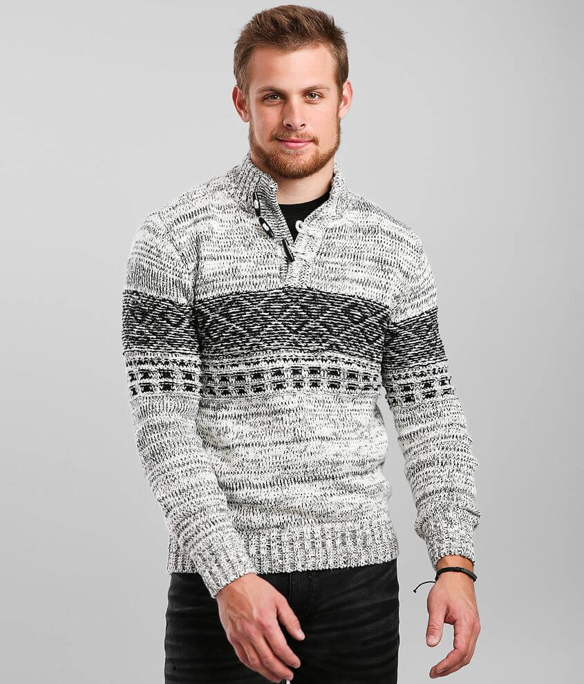 Outpost Makers Toggle Henley Mock Neck Sweater front view
