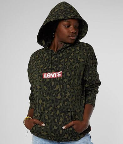 Levi's® Animal Print Hooded Sweatshirt