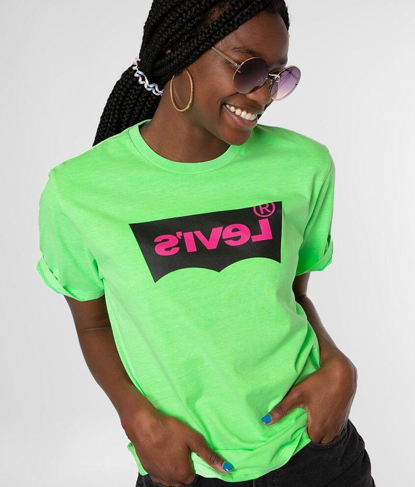 Levi S Neon T Shirt Women S T Shirts In Hm Ssnl Tech Neon Green