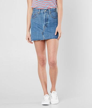 Levi's® Deconstructed Denim Skirt
