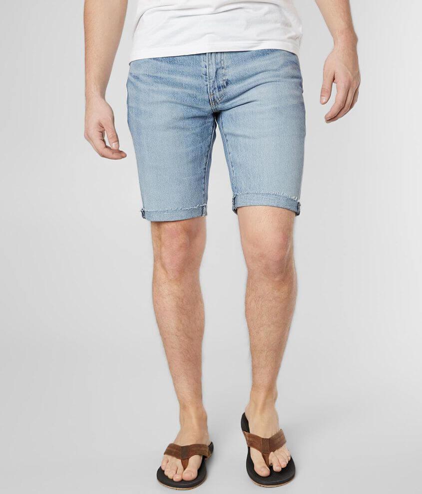Levi/'s 511 Men/'s Slim Fit Denim Cut-Off Shorts Super Lite Blue 365550292