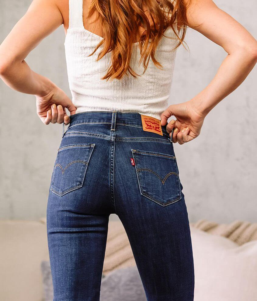 Levi's® High Rise Straight Cropped Jean front view