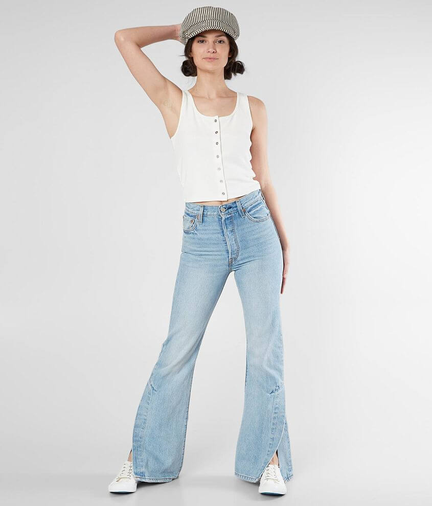 aa953d3f0efbde Levi's® Ribcage Split Flare Jean - Women's Jeans in Dazed and ...