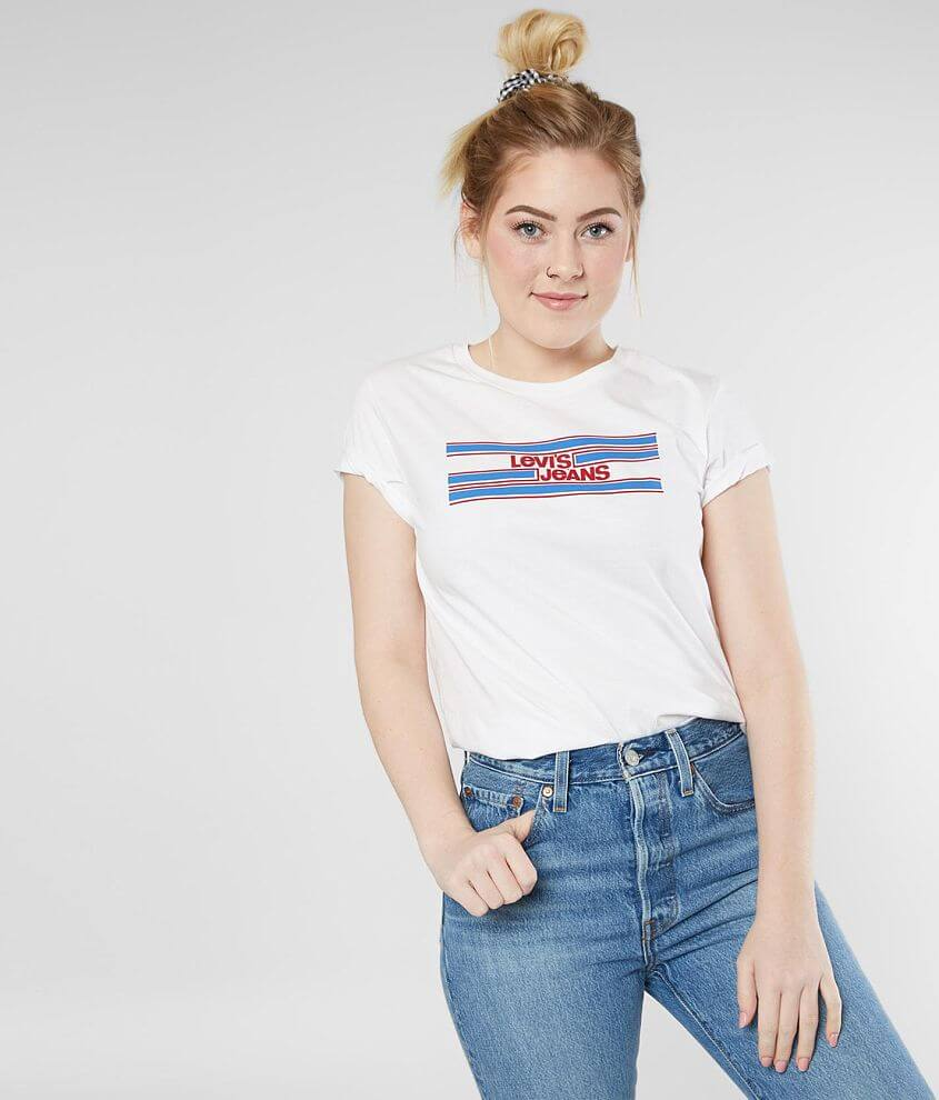 ef4d7263 Levi's® Perfect T-Shirt - Women's T-Shirts in White | Buckle