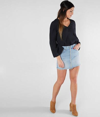 Levi's® Frayed Denim Skirt