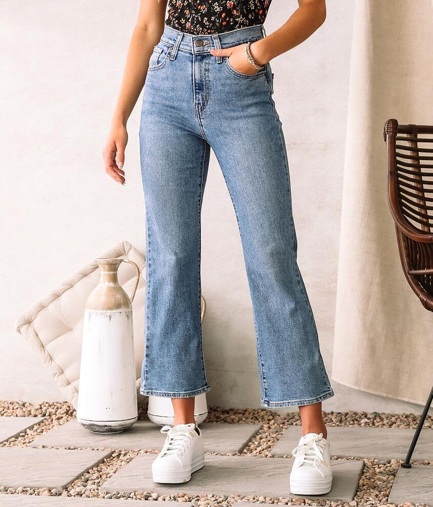 Levi's® High Rise Cropped Flare Jean front view