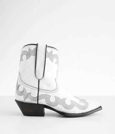 Caborca Silver Danny Leather Western Ankle Boot