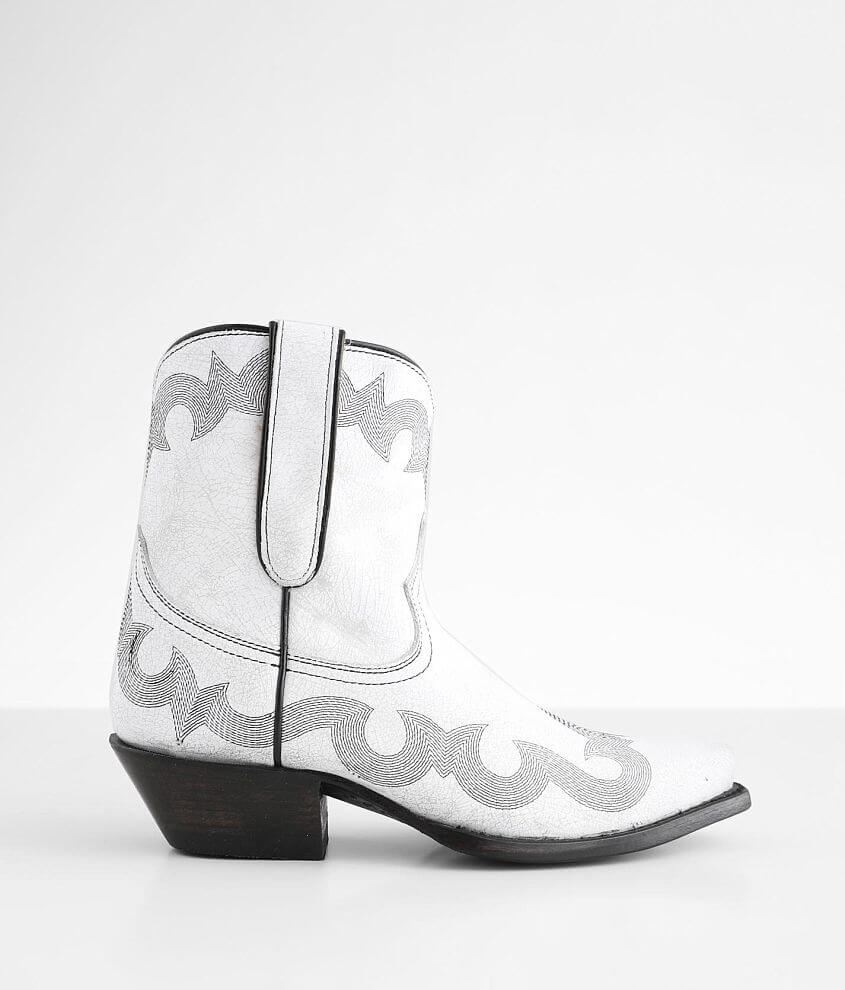 Caborca Silver Danny Leather Western Ankle Boot front view