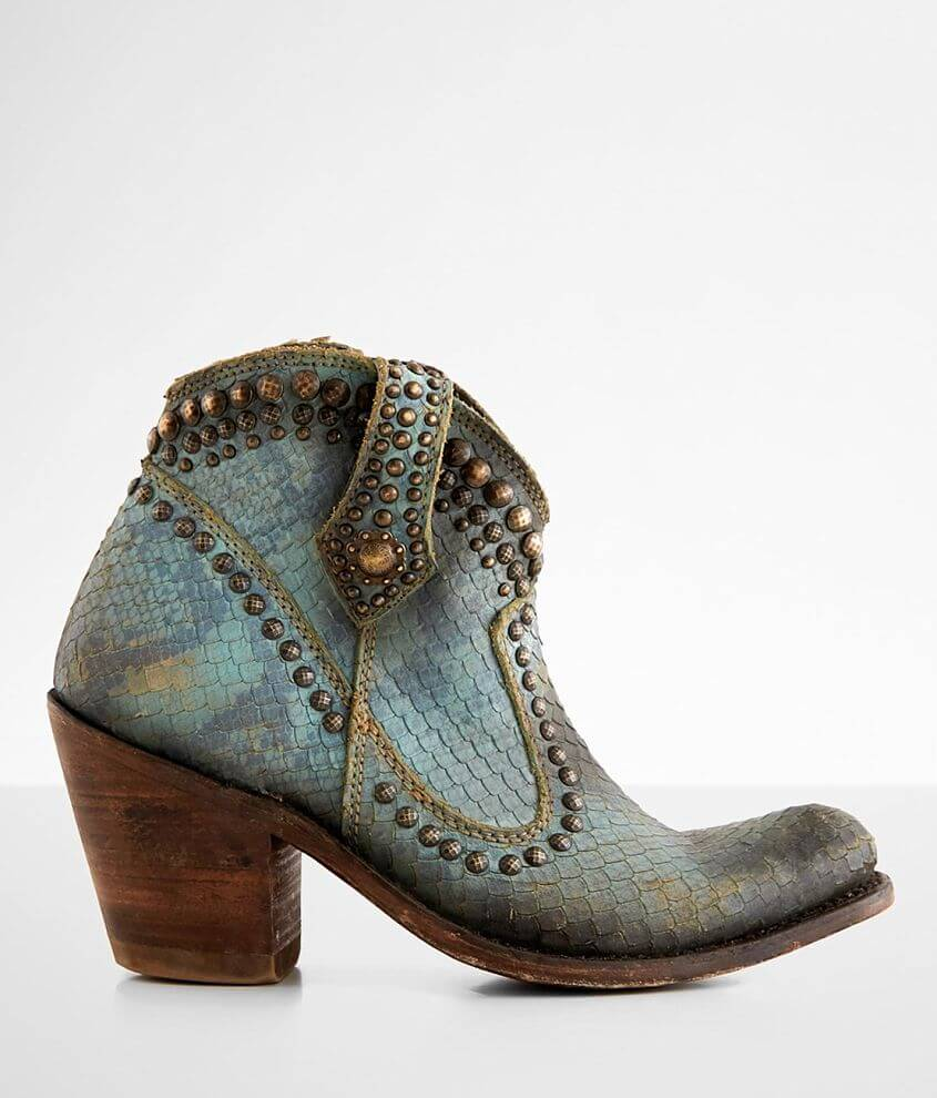 Liberty Black Ella Leather Western Ankle Boot front view