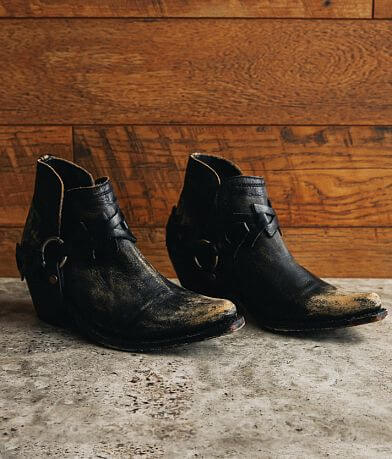 Liberty Black Lillian Western Leather Ankle Boot
