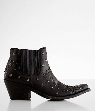 Liberty Black Megan Western Leather Ankle Boot