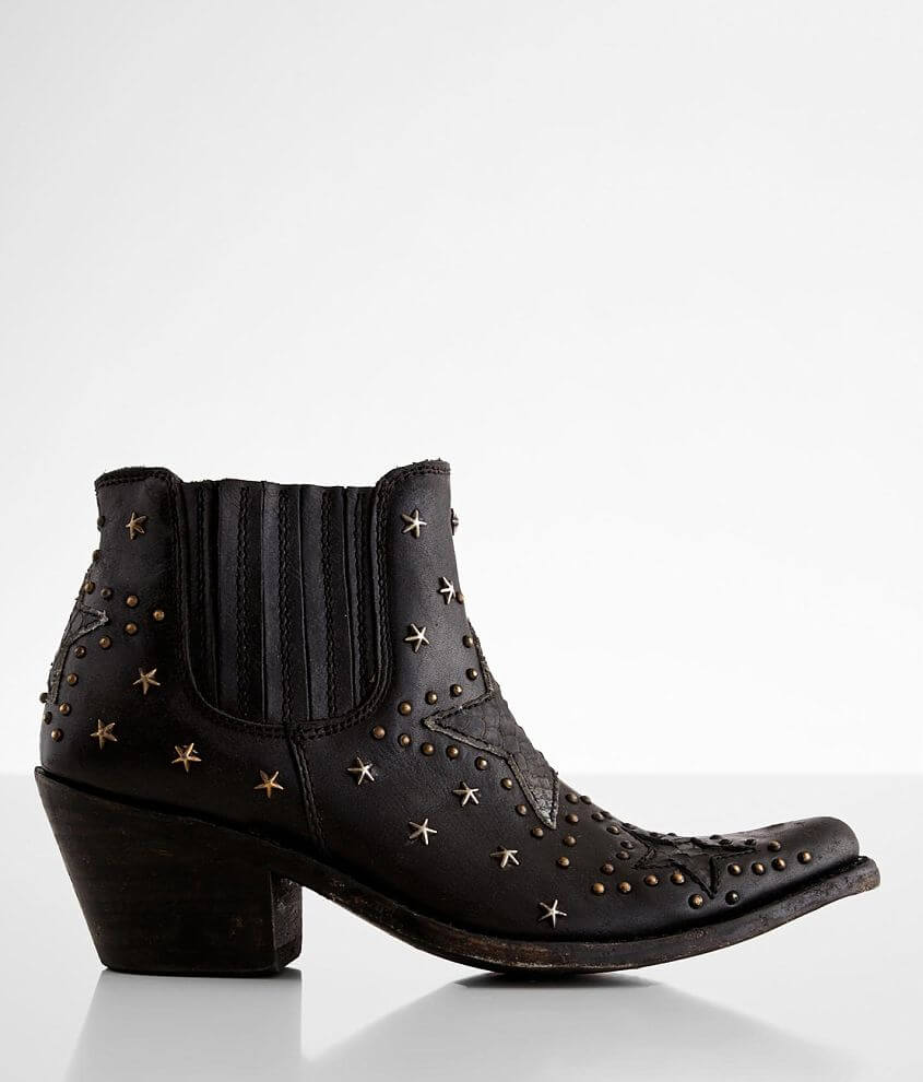 Liberty Black Megan Western Leather Ankle Boot front view
