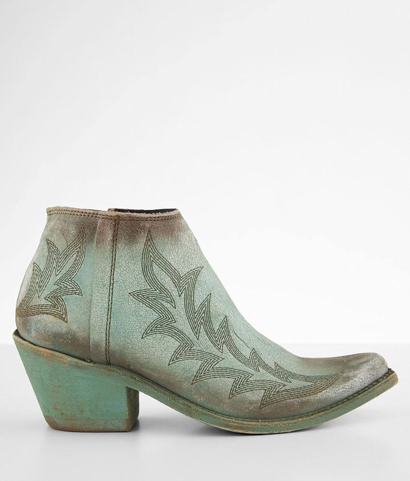 Liberty Black Reba Western Leather Ankle Boot front view