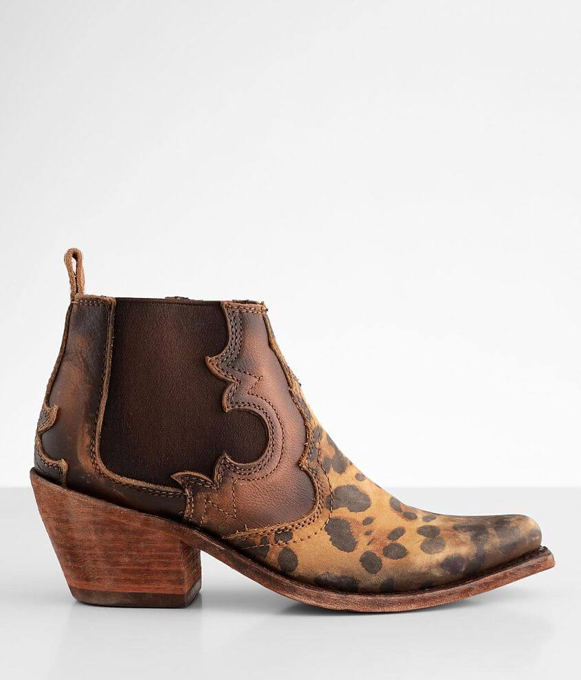 Liberty Black Lynn Western Leather Ankle Boot front view
