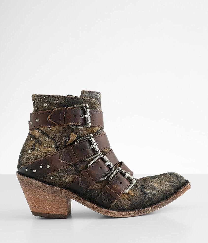 Liberty Black Amy Western Leather Ankle Boot front view
