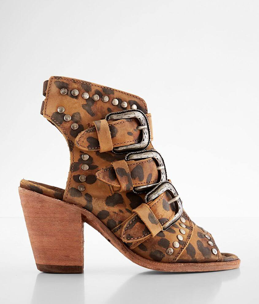 Liberty Black Kinney Studded Leather Heeled Sandal front view