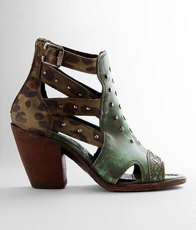 Liberty Black Swipe Leather Heeled Sandal
