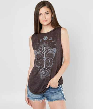 Life Clothing Co. Butterfly & Tree Tank Top