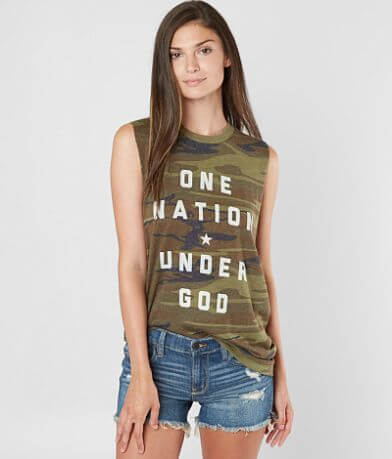 The Light Blonde One Nation Muscle Tank Top