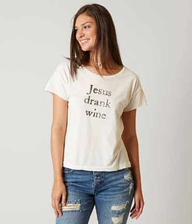The Light Blonde Jesus Drank Wine T-Shirt