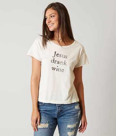 The Light Blonde Jesus Drank Wine T-Shirt