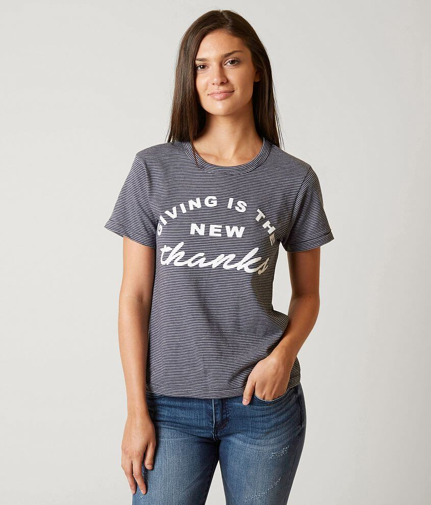 The Light Blonde Giving Is The New Thanks T-Shirt front view