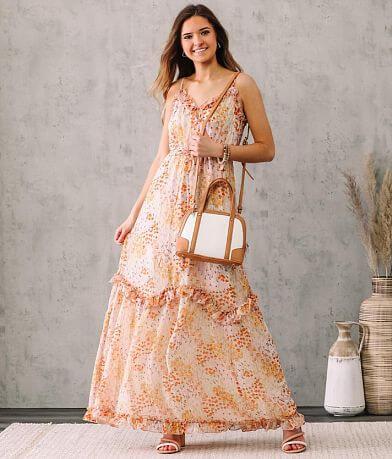 June & Hudson Floral Ruffle Maxi Dress