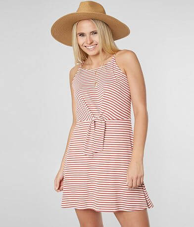 30485b6f21 As U Wish Striped Knit Dress