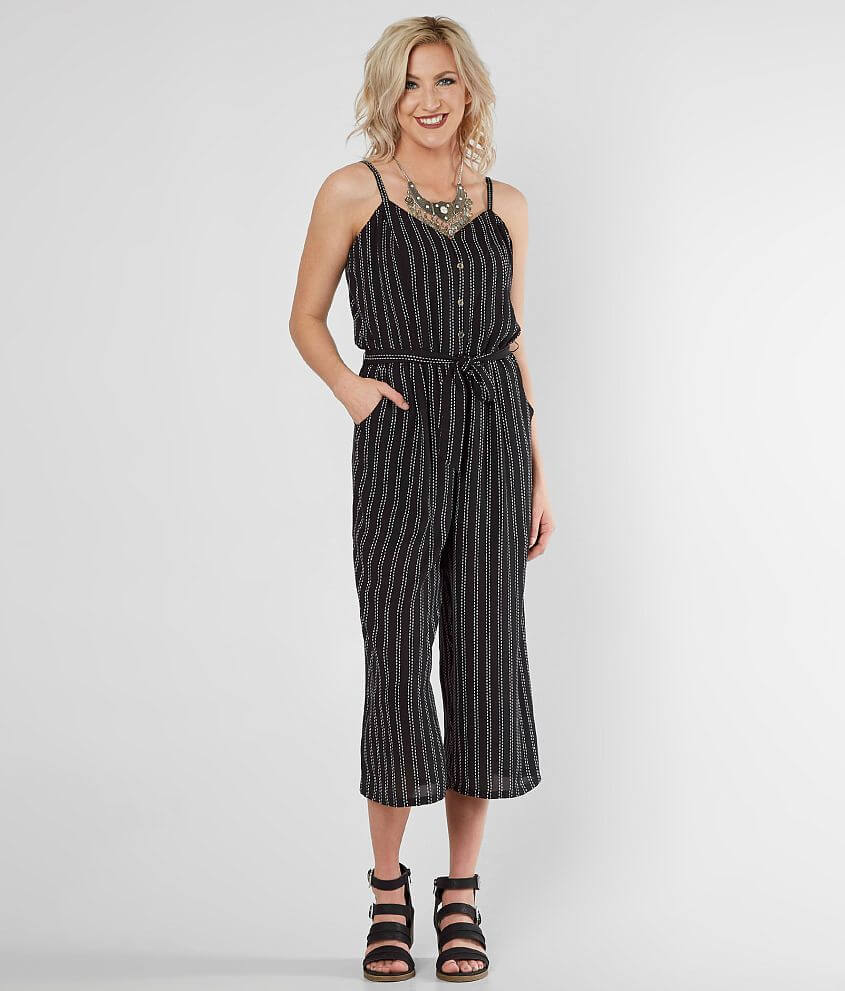 eeaa6c3a3cd Daytrip Striped Gaucho Jumpsuit - Women s Rompers Jumpsuits in Black ...