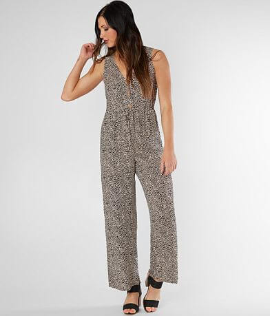 As U Wish Animal Print Chiffon Jumpsuit