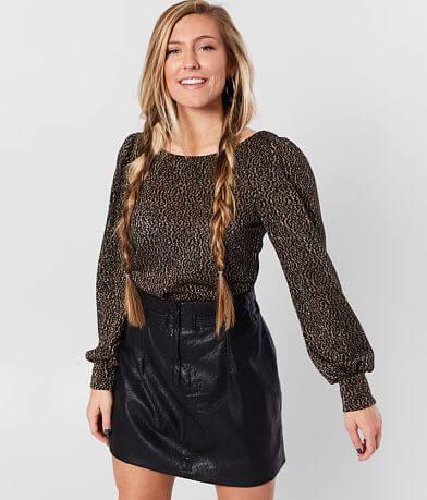 Willow & Root Metallic Knit Top