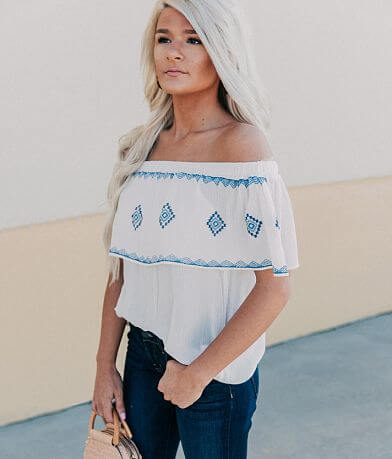 Lily White Off The Shoulder Top