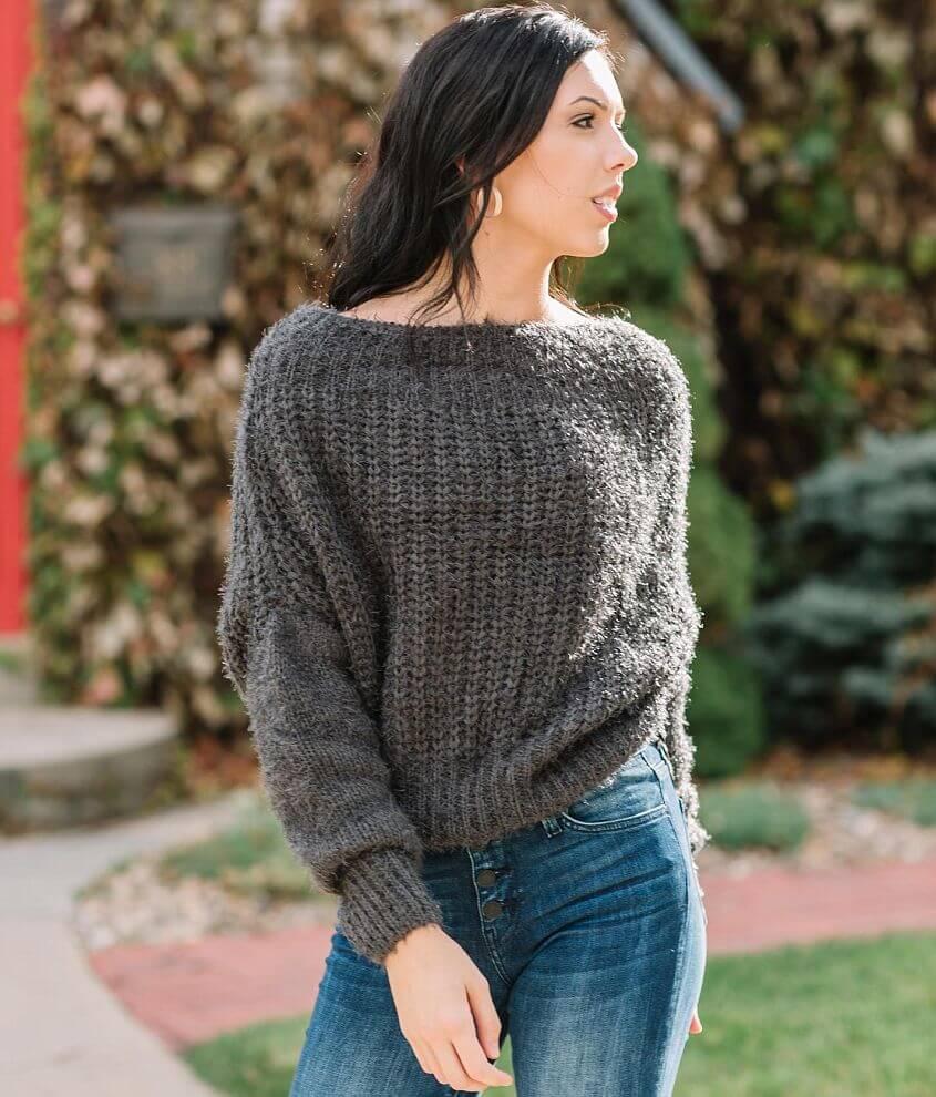 Willow & Root Wide Neck Sweater Women's Sweaters in Dark