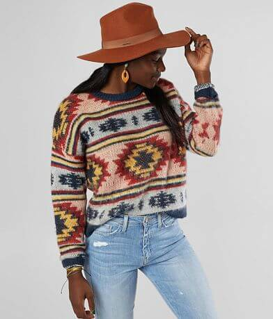 Gilded Intent Southwestern Pullover Sweater