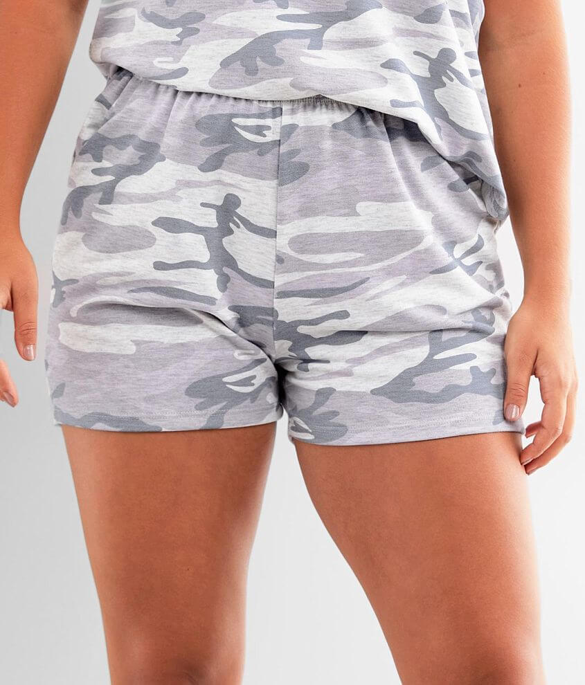 lime + chili Camo Short front view