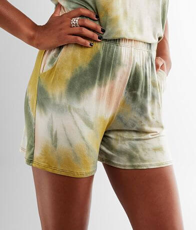 lime + chili Tie Dye Short