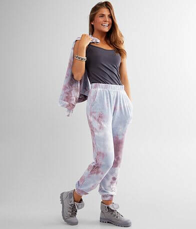 lime + chili Brushed Tie Dye Jogger