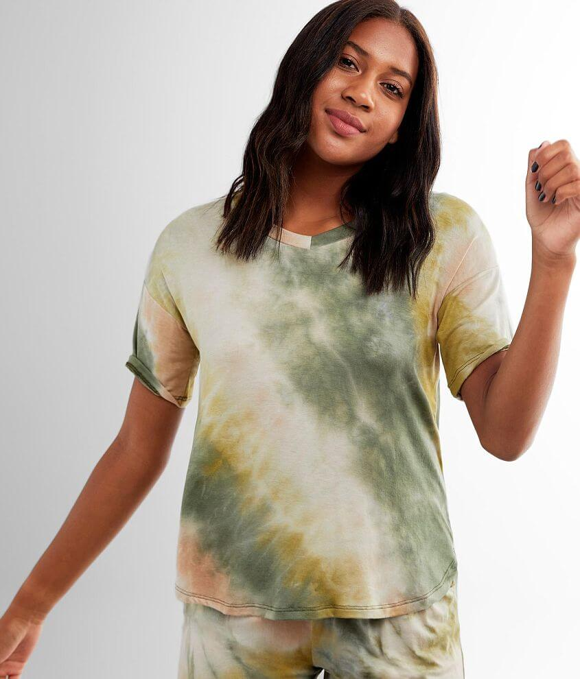 lime + chili Tie Dye T-Shirt front view