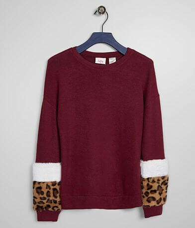 Girls - Daytrip Leopard Faux Fur Pullover
