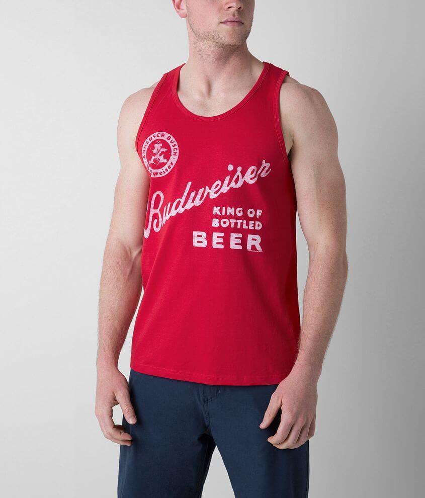 fee9ccde0b99be Junk Food Budweiser Tank Top - Men s Tank Tops in Red