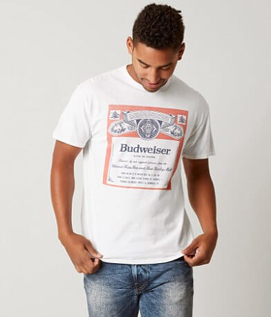Junk Food Budweiser Label T-Shirt