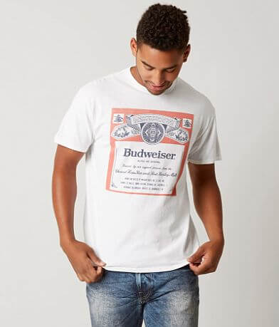 9c24ffde Junk Food Budweiser Label T-Shirt