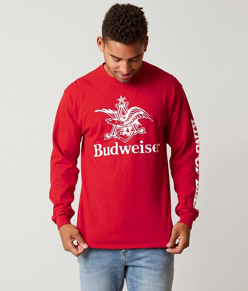 Junk Food Budweiser King of Beers T-Shirt - Men's T-Shirts in Red ...
