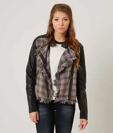 Gimmicks Asymmetrical Plaid Jacket
