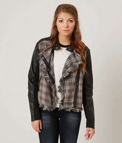 Gimmicks Asymmetrical Plaid Jacket