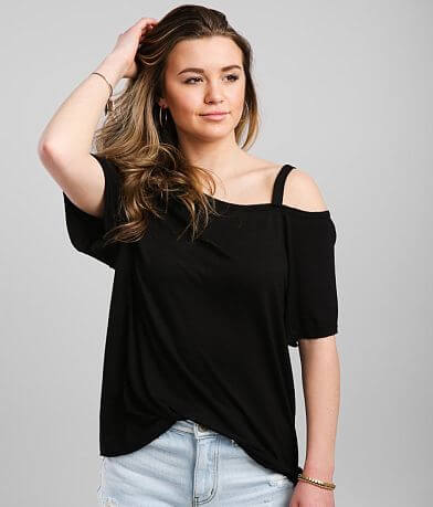 BKE Cold Shoulder Top