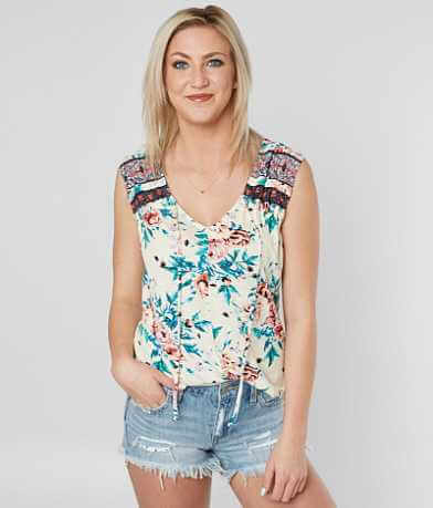 Daytrip Floral V-Neck Tank Top